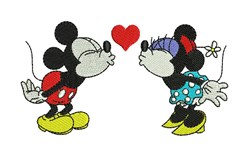Minnie and Mickey embroidery design