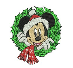 Mickey Mouse Wreath embroidery design