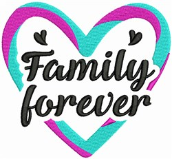 Family Forever embroidery design