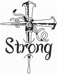 Jesus Strong embroidery design