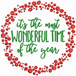 Christmas - Most Wonderful time embroidery design