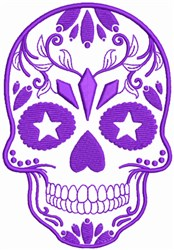 Decorated Skull embroidery design