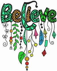 Believe - Whimsical embroidery design