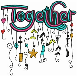 Together - Whimsical embroidery design