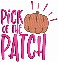 Pumpkin - Pick of the Patch embroidery design