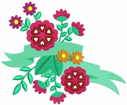 Valentines Day Flowers embroidery design