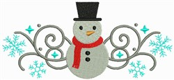 Christmas Snowman Border embroidery design