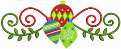 Christmas Decorations Border embroidery design