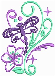 Dragonfly Sparkles embroidery design