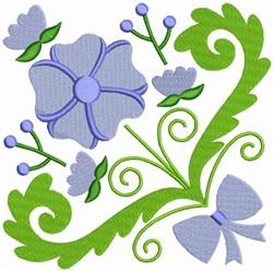 Purple Floral Square embroidery design