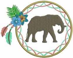 Dream Catcher Elephant embroidery design
