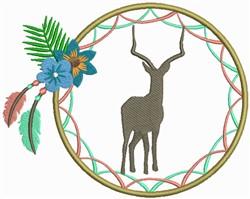 Dream Catcher Deer embroidery design