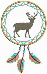 Dream Catcher Stag embroidery design