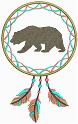 Dream Catcher Bear embroidery design