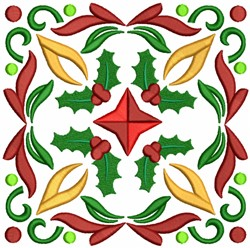 Holly Quilt Block embroidery design