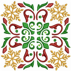 Snowflake Quilt Block embroidery design