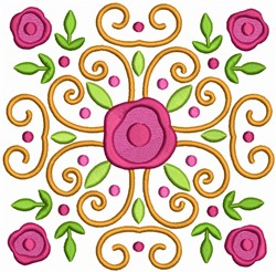 Easter Flower Quilt Block embroidery design