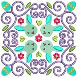Easter Bunny Quilt Block embroidery design