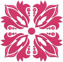Floral Damask Quilt Blocks embroidery design