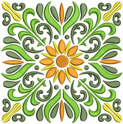 Floral Quilt Squares embroidery design