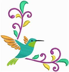 Humming Bird Corner embroidery design
