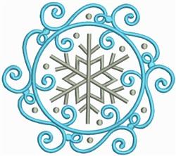 Snow Swirls Corner and Border 1 embroidery design