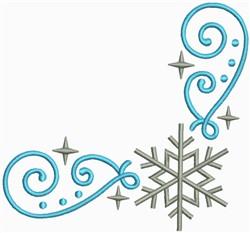 Snow Swirls Corner and Border 3 embroidery design