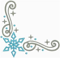 Snow Swirls Corner and Border 4 embroidery design