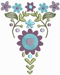 Artistic Floral Bookmark embroidery design