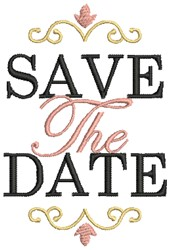 Save the Date with Borders embroidery design