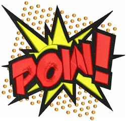 Pow! embroidery design
