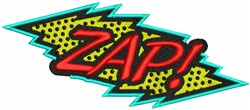Zap! embroidery design