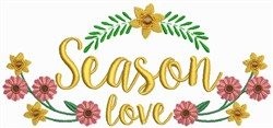 Season Love embroidery design