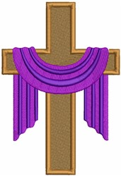 Lenten Cross embroidery design