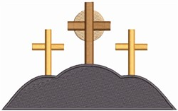 Crosses On Hill embroidery design