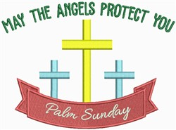 May the Angels Protect You embroidery design
