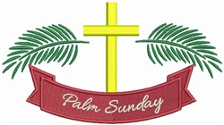 Palm Sunday embroidery design