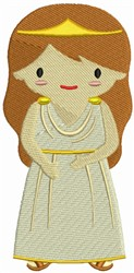 Greek Girl embroidery design