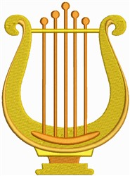 Lyre embroidery design