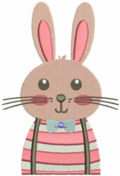 Hipster Rabbit embroidery design