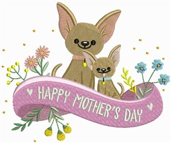 Happy Mothers Day Dogs embroidery design