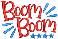 Boom Boom Fireworks embroidery design