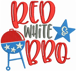 Red White & BBQ embroidery design