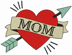 MOM & Heart embroidery design