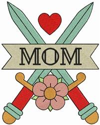 Mom & Cross Swords embroidery design