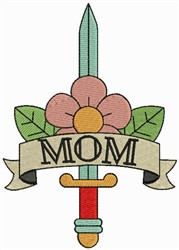 Mom & Floral Sword embroidery design