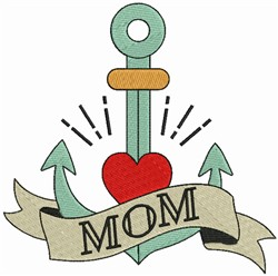 Mom & Anchor embroidery design