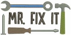 Mr Fix It embroidery design