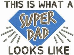 Super Dad embroidery design