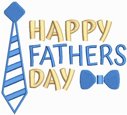 Fathers Day Necktie embroidery design